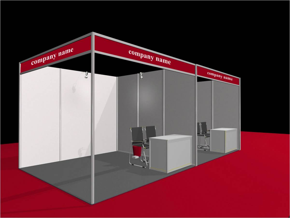 Shell Scheme Exhibition Stands : What are the choices of exhibition stand space shell